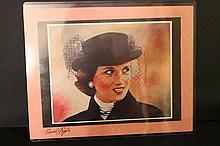 PRINCESS DIANA GONE BUT NOT FORGOTTEN PRINT FROM PAINTING BY SIGNED ARTIST FRANK PUGLIO 1998