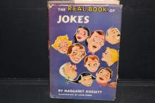 A REAL FUN BOOK - THE REAL BOOK OF JOKES BY MARGARET GOSSET - WITH DUST JACKET - 220 PAGES - GOOD CONDITION 1954 FIRST EDITION