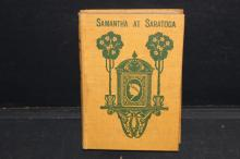 SAMANTHA AT SARATOGA - FIRST EDITION 1887 - GOOD CONDITION 373 PAGES