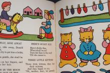 MOTHER GOOSE RHYMES 1940 - NO RIPS OR TEARS - BRIGHT COLORS