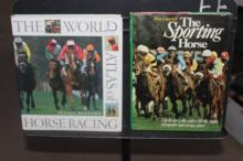 WORLD ATLAS OF RACING - COVERS WORLDWIDE TRACKS - 224 PAGES - 1989 - SPORTING HORSE 1976 - 120 PAGES LOADED WITH ACTUAL PHOTOS