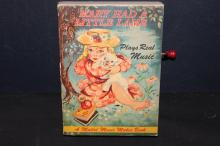 MARY HAD A LITTLE LAMB MUSIC BOOK - BOOK VERY GOOD CONDITION - BUT NO MUSIC HANDLE TURNS NO SOUND