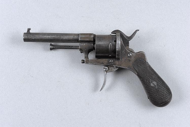 A 7MM PINFIRE REVOLVER, PROBABLY CONTINENTAL 3