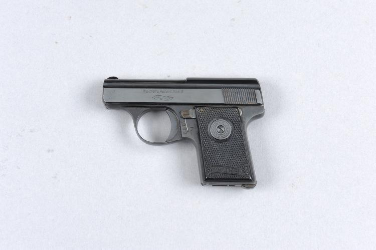 WALTHER A .25 MODEL 9 SELF-LOADING PISTOL, NO. 607302 2-inch barrel, cheque