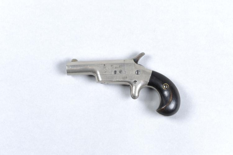 A SPANISH .41 RIMFIRE DERRINGER, NO. 195 2 1/2-inch nickel-plated swing-ope
