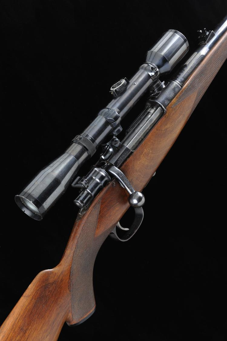 A MAUSER-TYPE 7X57MM BOLT-ACTION SPORTING RIFLE, NO. 7986 23-inch barrel wi