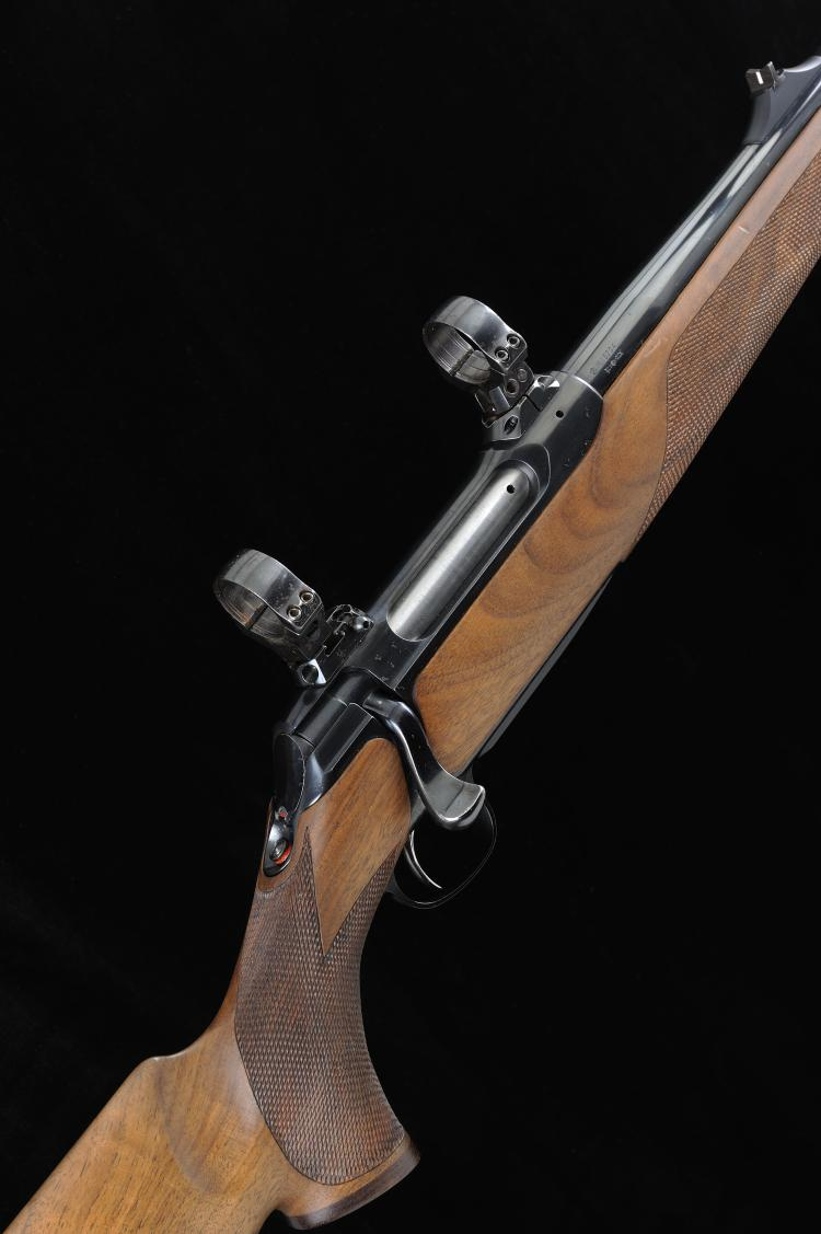 SAUER A .375 H&H MODEL 202 BOLT-ACTION SPORTING RIFLE, NO. N15704 24-inch b