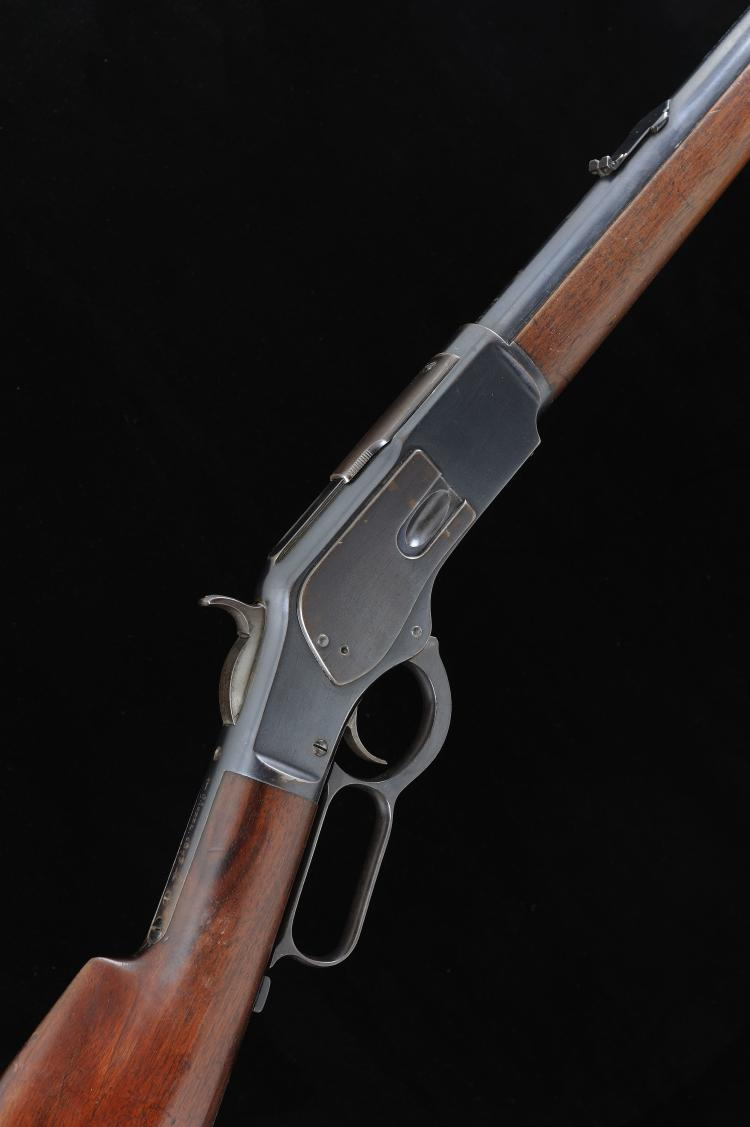 WINCHESTER A .44 WCF MODEL 1873 LEVER-ACTION RIFLE, NO. 403785B 24-inch rou