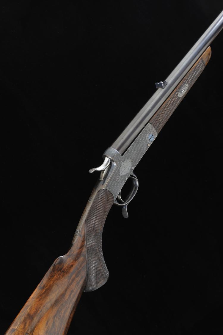 BOSS & CO. A .380 SINGLE BARREL ROOK RIFLE, NO. 6684 24-inch round barrel w