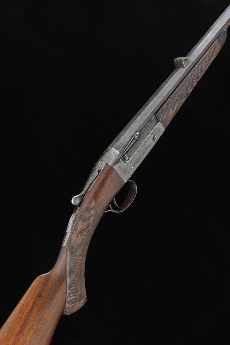 HOLLAND & HOLLAND A .22 SINGLE BARREL SPORTING RIFLE, NO. 21449, CONVERTED