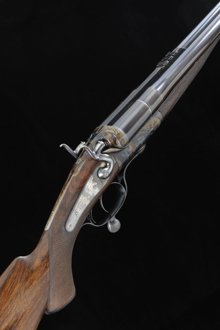 COGSWELL & HARRISON A SCARCE .450 NITRO EXPRESS HAMMER RIFLE, NO. 24445 23
