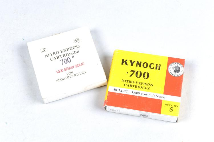 KYNOCH 5 RNDS OF .700 AMMUNITION bullet 1000 grns, soft-nosed; together wit