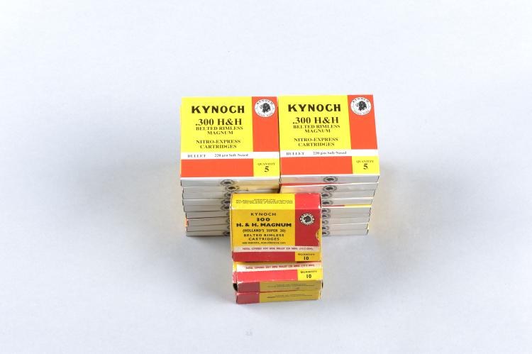 KYNOCH A QUANTITY OF .300 H&H BELTED RIMLESS MAGNUM AMMUNITION comprising: