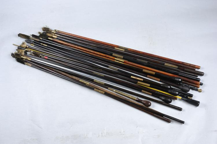 A COLLECTION OF GUNMAKERS CLEANING RODS of various pattern and types, many