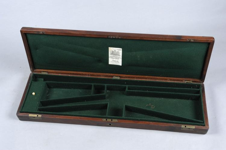 WILLIAM POWELL A BRASSBOUND MAHOGANY GUN CASE suitable for a percussion gun