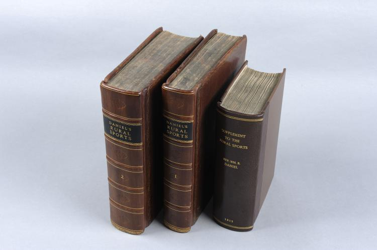 DANIEL'S RURAL SPORTS two volumes, London, 1801, the leather bound volumes