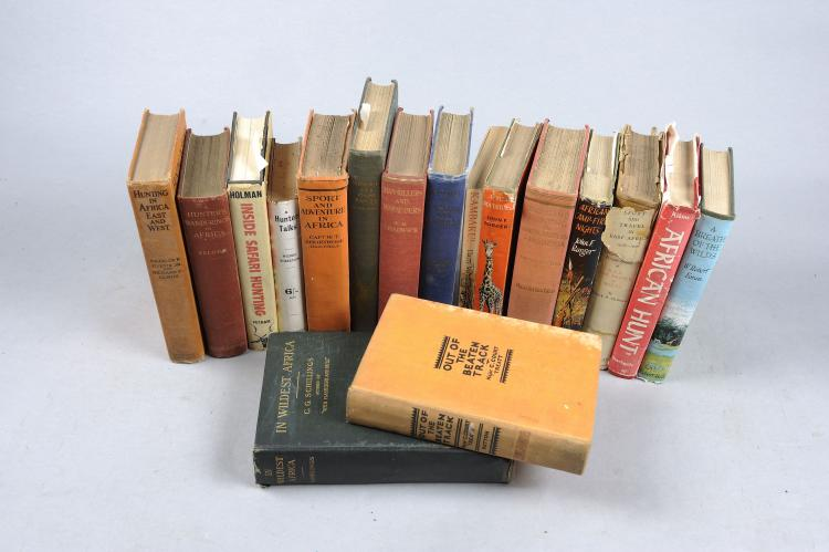 A GROUP OF BOOKS RELATING TO BIG GAME HUNTING including: ''A Hunter's Wande