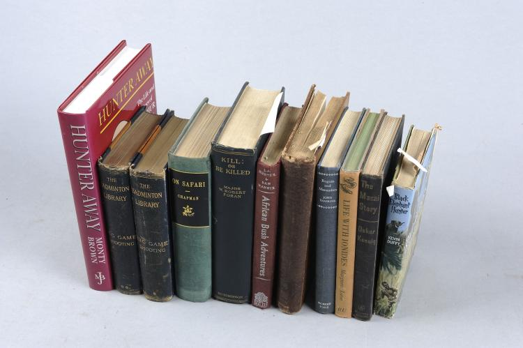 A GROUP OF BOOKS RELATING TO AFRICAN HUNTING including: ''Kill or Be Killed