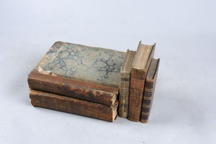 DANIEL'S RURAL SPORTS two volumes, London, 1801, in generally distressed co