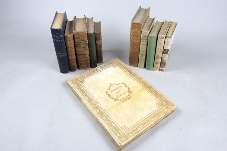SPORTING BY NIMROD London, 1837, the vellum-covered volume with many illust