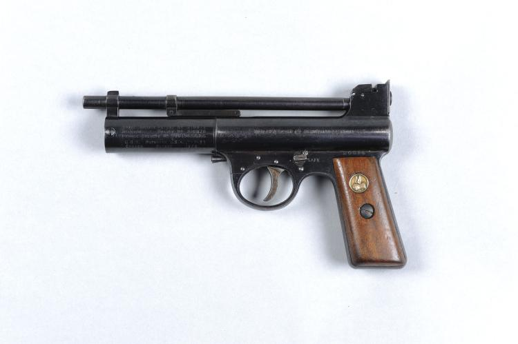 WEBLEY & SCOTT A FINE .177 MK I MODEL AIR PISTOL, NO. 26314 7-inch barrel,