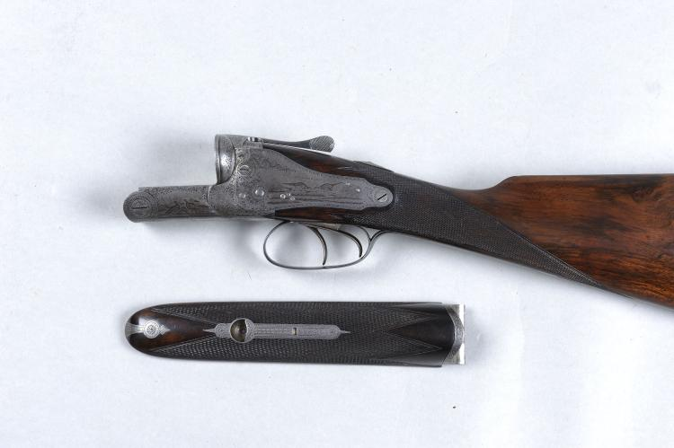 HOLLAND & HOLLAND THE ACTION, STOCK AND FORE-END ONLY OF A 12-BORE BACKLOCK