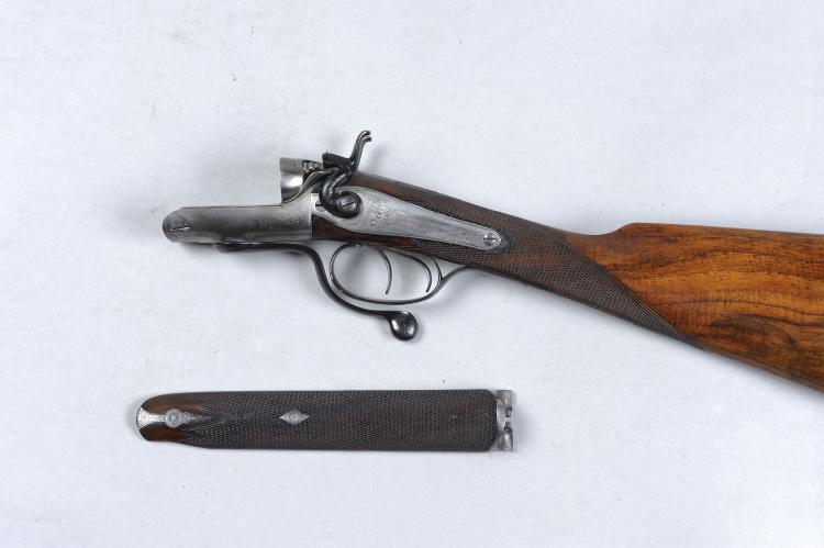 THE ACTION, STOCK AND FORE-END ONLY OF A 28-BORE HAMMER GUN, NO. 589 the ro