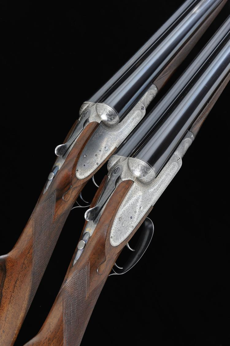 STEPHEN GRANT & SONS A PAIR OF 12-BORE SIDELOCK EJECTOR GUNS, NOS. 7311/2 2
