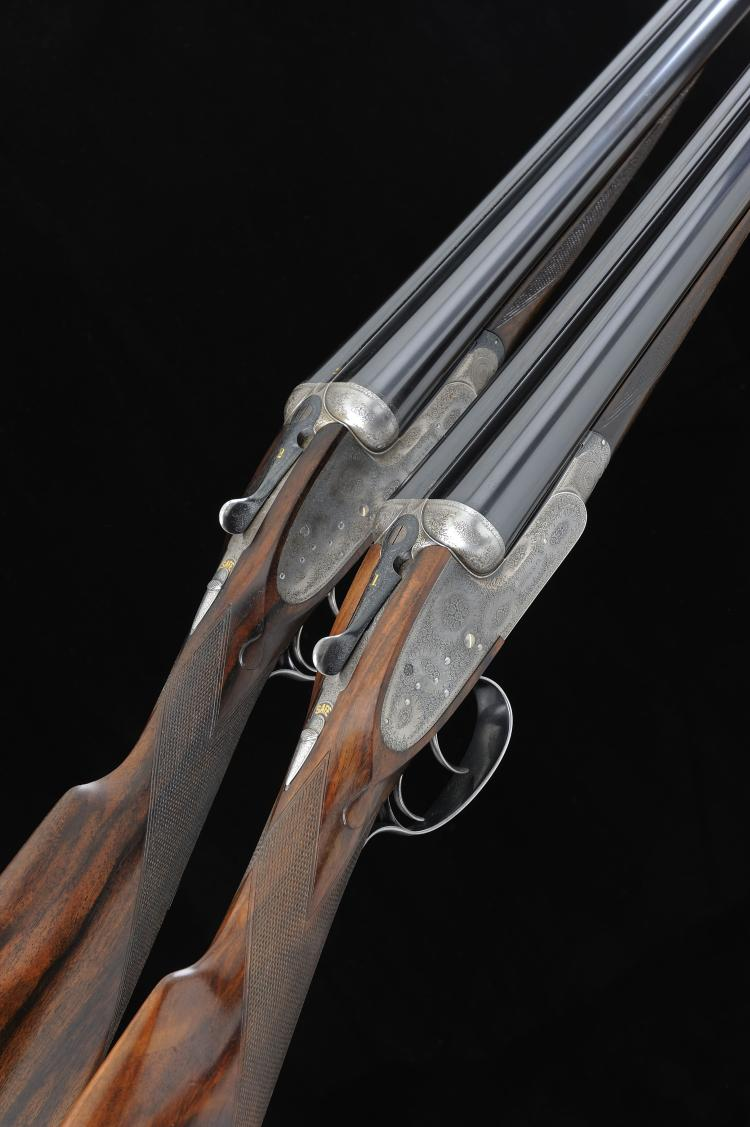 BOSS & CO. A PAIR OF 12-BORE SELF-OPENING SIDELOCK EJECTOR GUNS, NOS. 8537/