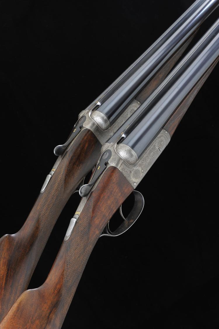 E. J. CHURCHILL A PAIR OF 12-BORE ''UTILITY'' MODEL BOXLOCK EJECTOR GUNS, N