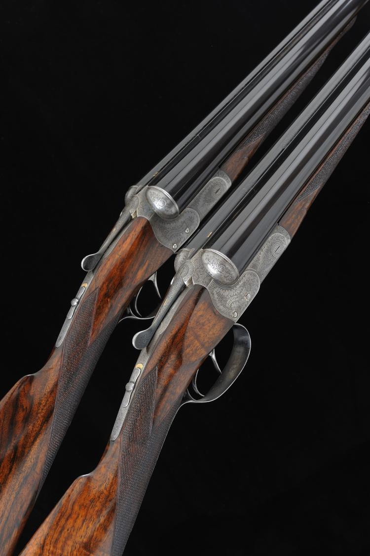 DANIEL FRASER A FINE PAIR OF 12-BORE BOXLOCK EJECTOR GUNS, NOS. 2886/7 30-i