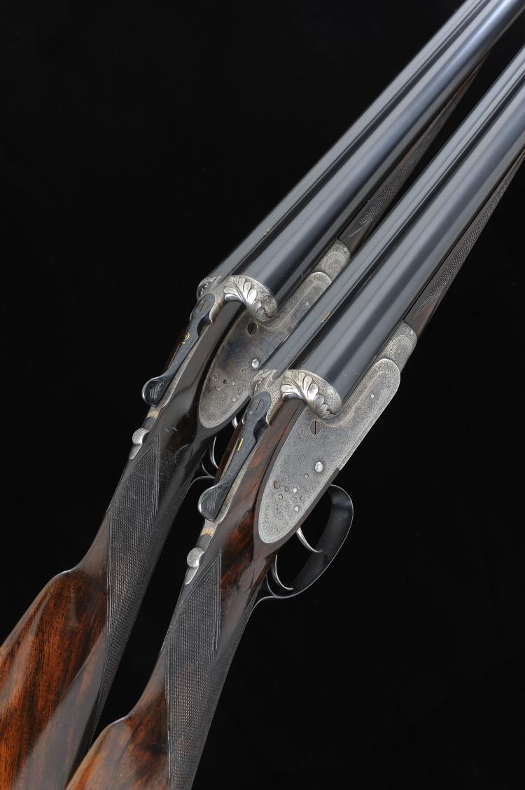 F. BEESLEY A PAIR OF 12-BORE SIDELOCK EJECTOR GUNS, NO. 1433/4 29 3/4-inch