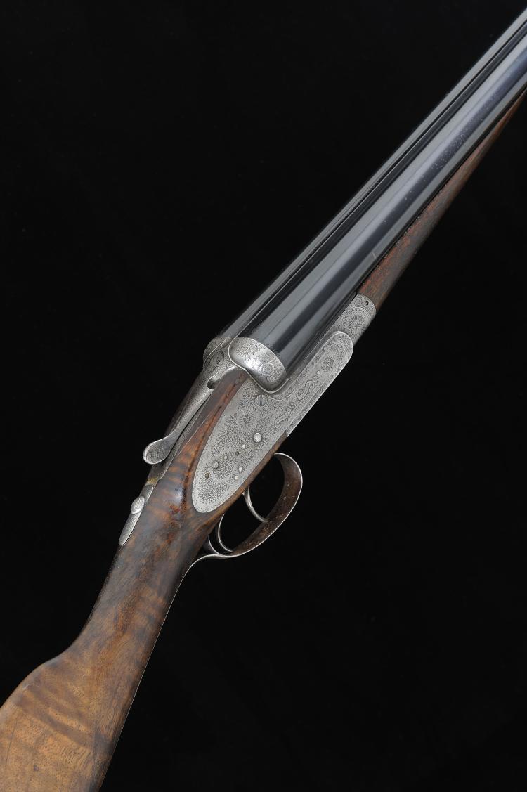 F. BEESLEY A 12-BORE SIDELOCK EJECTOR GUN, NO. 2217 28-inch sleeved barrels