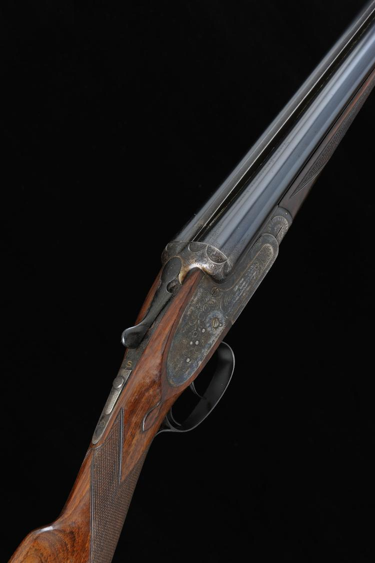 VICTOR SARASQUETA A 12-BORE SIDELOCK EJECTOR GUN, NO. 139243 28-inch choppe