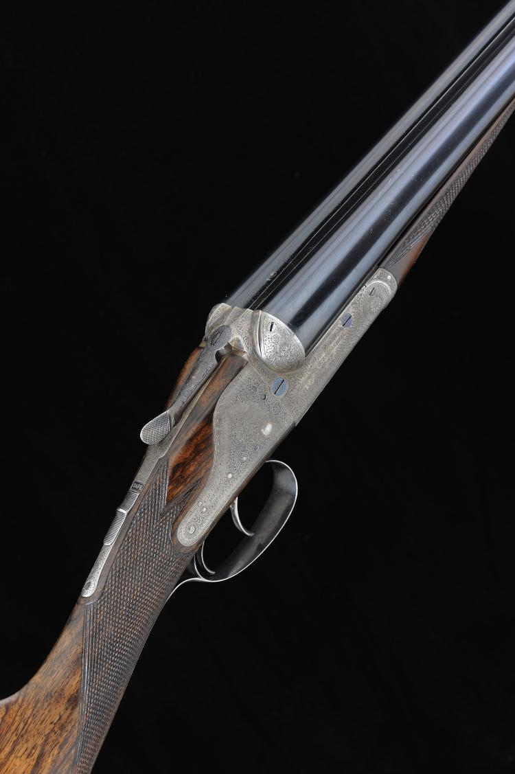 CHARLES LANCASTER A 12-BORE SIDELOCK EJECTOR GUN, NO. 7870 with 30-inch sle