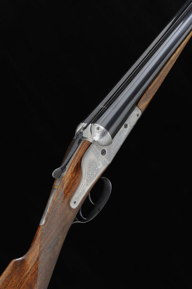 CHARLES LANCASTER A 12-BORE ASSISTED-OPENING BACKLOCK NON-EJECTOR GUN, NO.