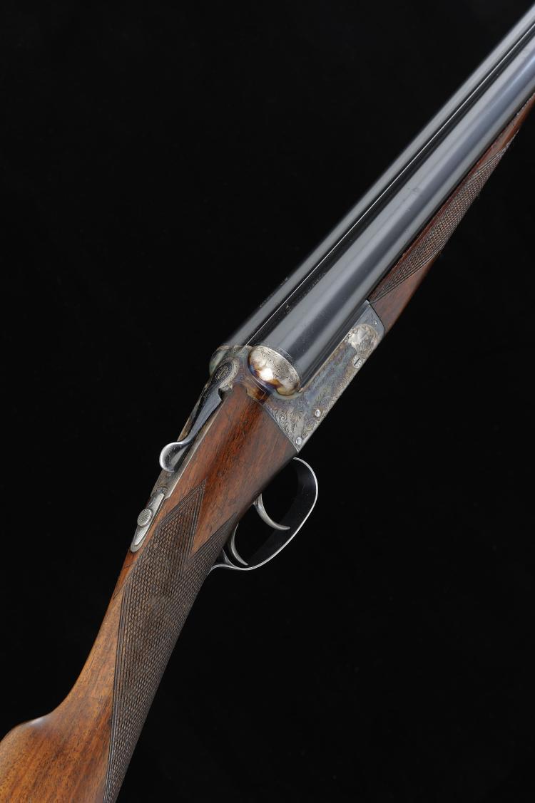 WEBLEY & SCOTT A 12-BORE MODEL 700 BOXLOCK EJECTOR GUN, NO. 125589 28-inch