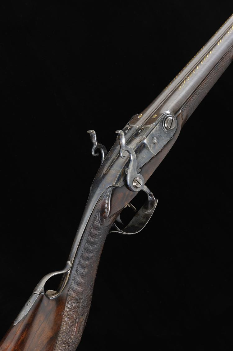 PAULY A SCARCE FRENCH PAULY PATENT 16-BORE SPORTING GUN, NO. 80 30-inch dam