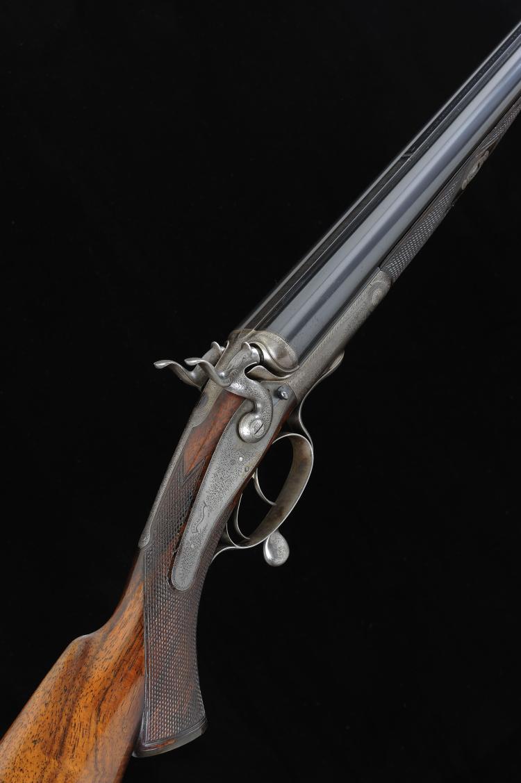 ALEX HENRY A 20-BORE HAMMER GUN, NO. 2708, CONVERTED FROM A HAMMER RIFLE 28