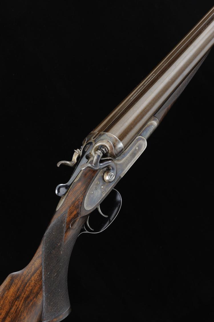 J. C. & W. LORD A FINE 12-BORE HAMMER GUN, NO. 3301 32-inch damascus barrel