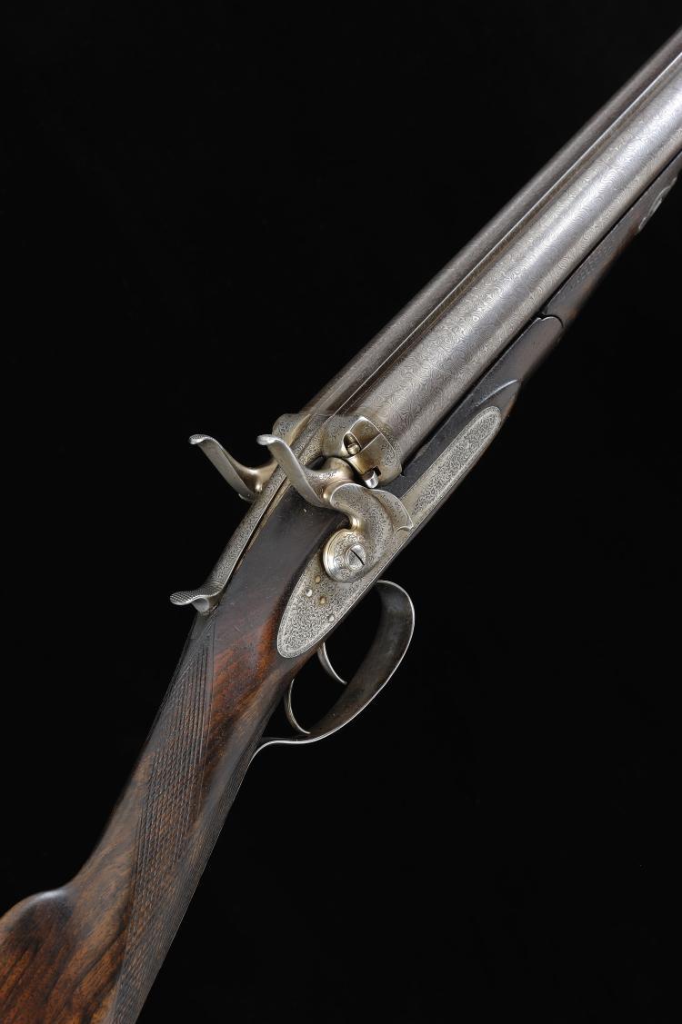 THOMAS HORSLEY A SCARCE 14-BORE PATENT BAR-IN-WOOD HAMMER GUN, NO. 1748 30-