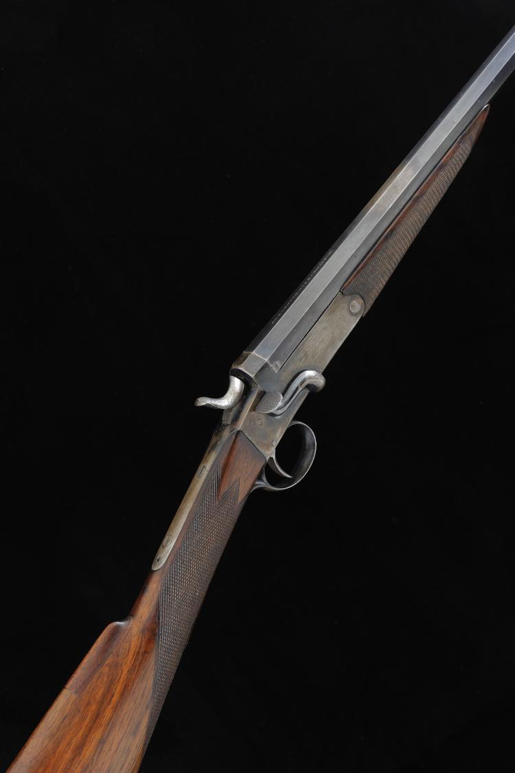 MORTIMER & SON A .410 SINGLE BARREL HAMMER GUN, CONVERTED FROM A ROOK RIFLE