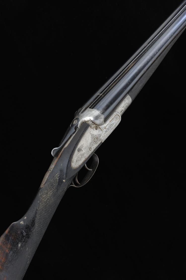 LYON & LYON A 20-BORE SIDELOCK NON-EJECTOR GUN, NO. 63177 28 1/4-inch barre