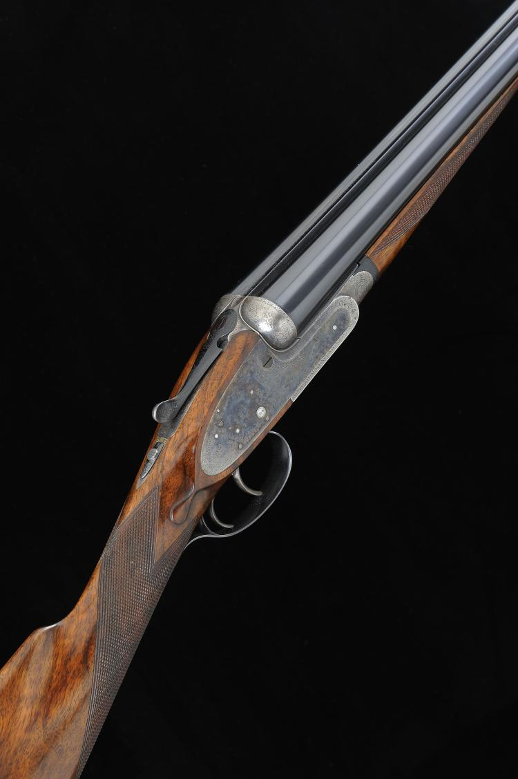BOSS & CO. A HIGHLY UNUSUAL 16-BORE SELF-OPENING SIDELOCK EJECTOR GUN, NO.