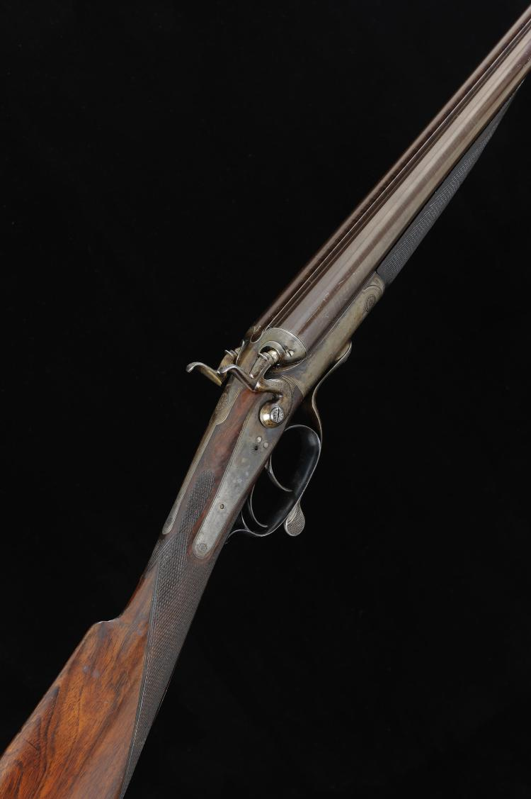 CHARLES W. ANDREWS A 28-BORE HAMMER GUN, NO. 93/1138 28-inch damascus barre