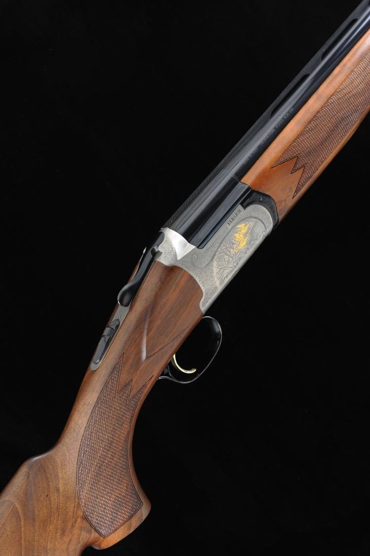 FABARM A 12-BORE ''ELOS DELUXE'' SINGLE TRIGGER OVER AND UNDER EJECTOR GUN,