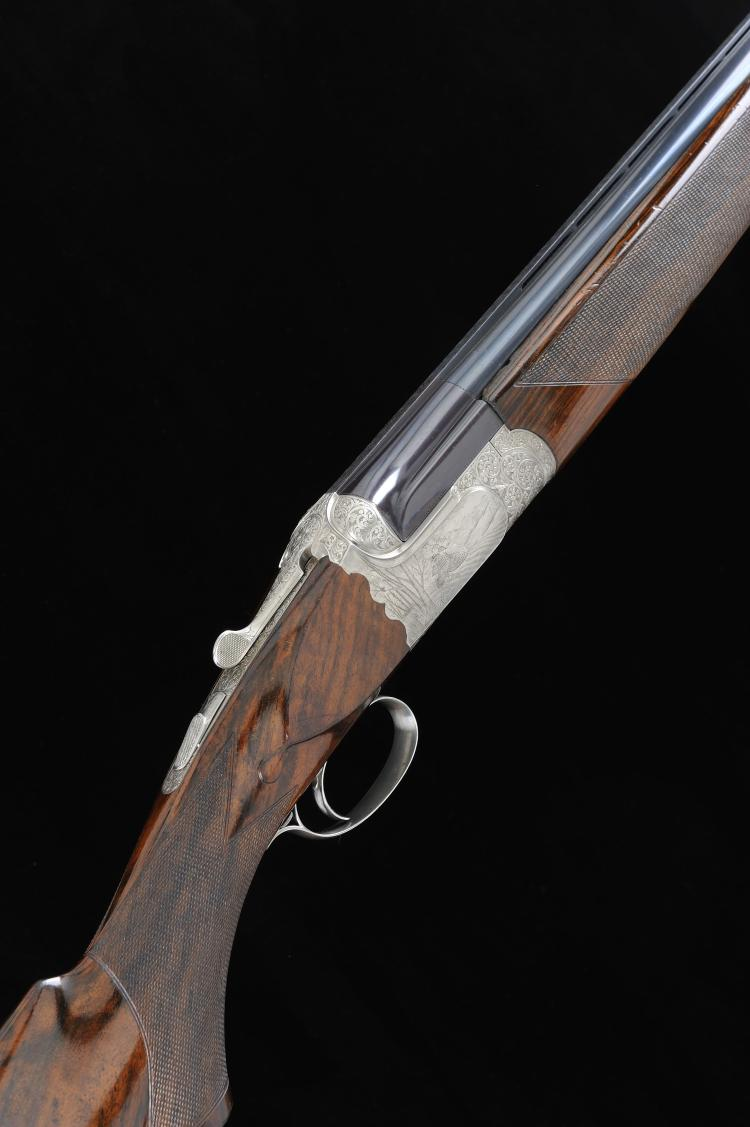ALEX MARTIN A 12-BORE SINGLE TRIGGER OVER AND UNDER EJECTOR GUN, BY WIFRA