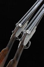 BOSS & CO. A PAIR OF 12-BORE SINGLE TRIGGER ASSISTED-OPENING SIDELOCK EJECT