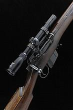ENFIELD A 7.62MM CONVERTED NO.4 BOLT-ACTION SERVICE RIFLE, NO. A490 25-inch