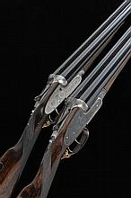J. PURDEY & SONS A MATCHED PAIR OF 12-BORE SELF-OPENING SIDELOCK EJECTOR GU